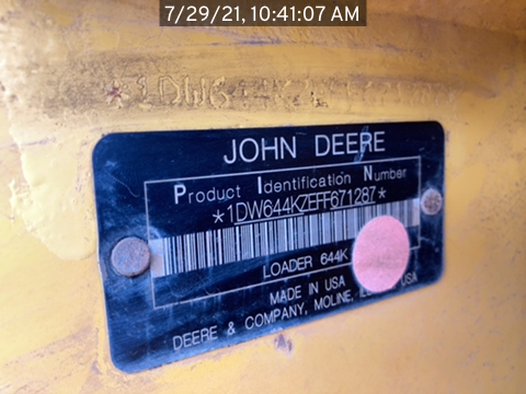 2015 John Deere 644K
