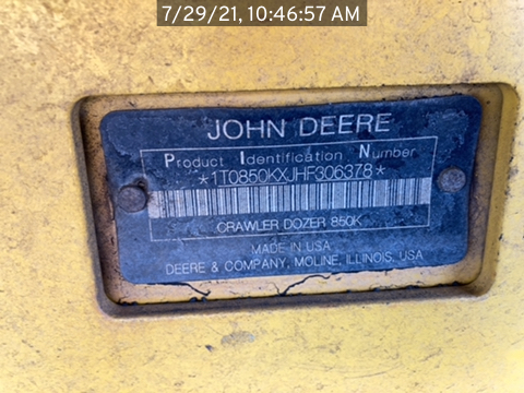 2017 John Deere 850KXL
