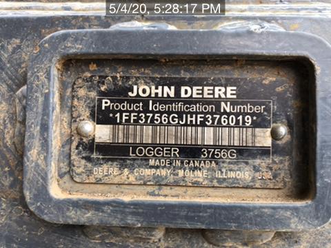 2017 John Deere 3756G