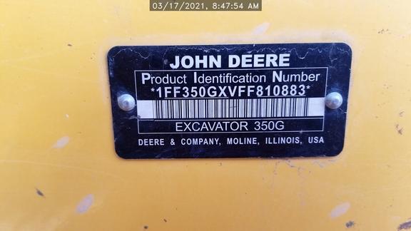 2015 John Deere 350G