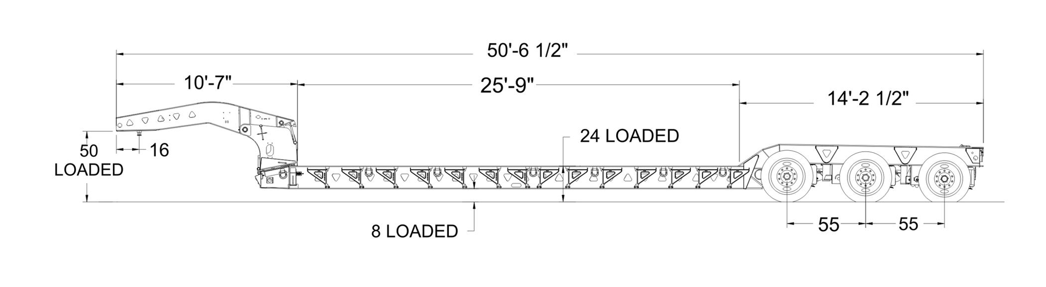 Trail King Advantage Plus! HDG Hydraulic Detachable Gooseneck