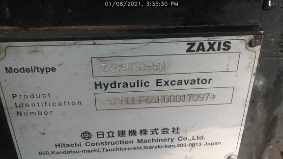 2015 Hitachi ZX85U5