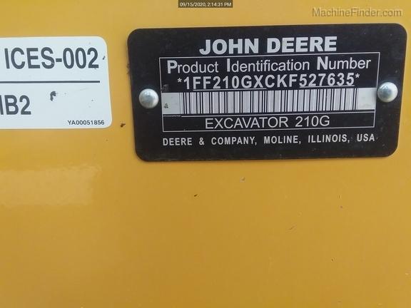 2019 John Deere 210GLC