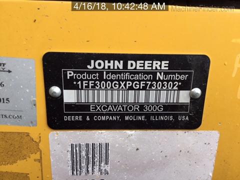 2016 John Deere 300GLC