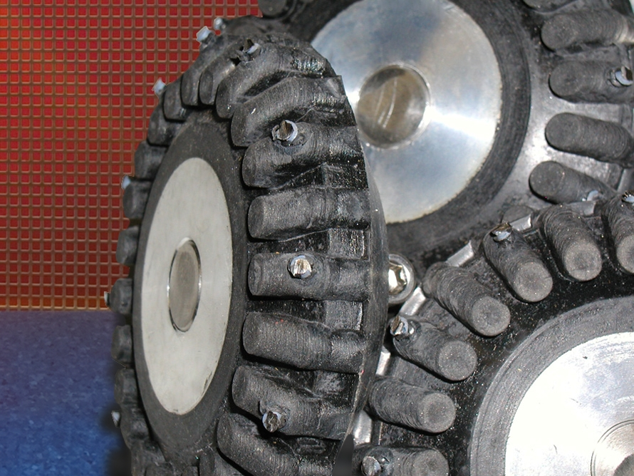 Subsite Electronics High Traction Studded Wheels