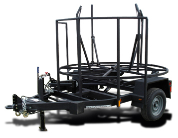 American Eagle IRH Self-Loading Coil Pipe Trailer