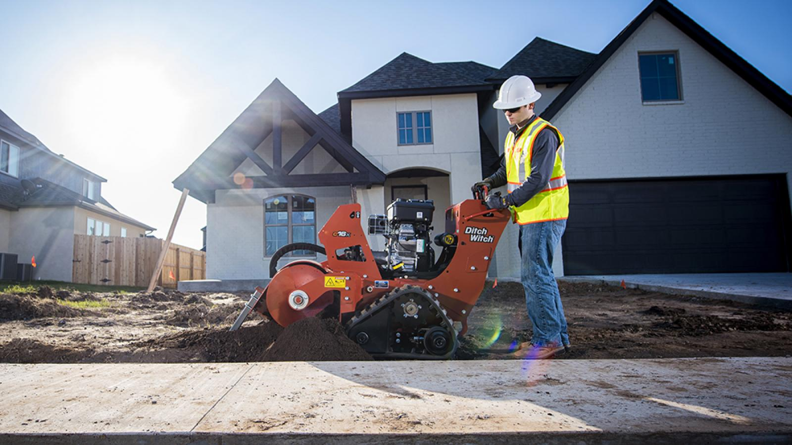 Ditch Witch C16X Walk-Behind Trencher