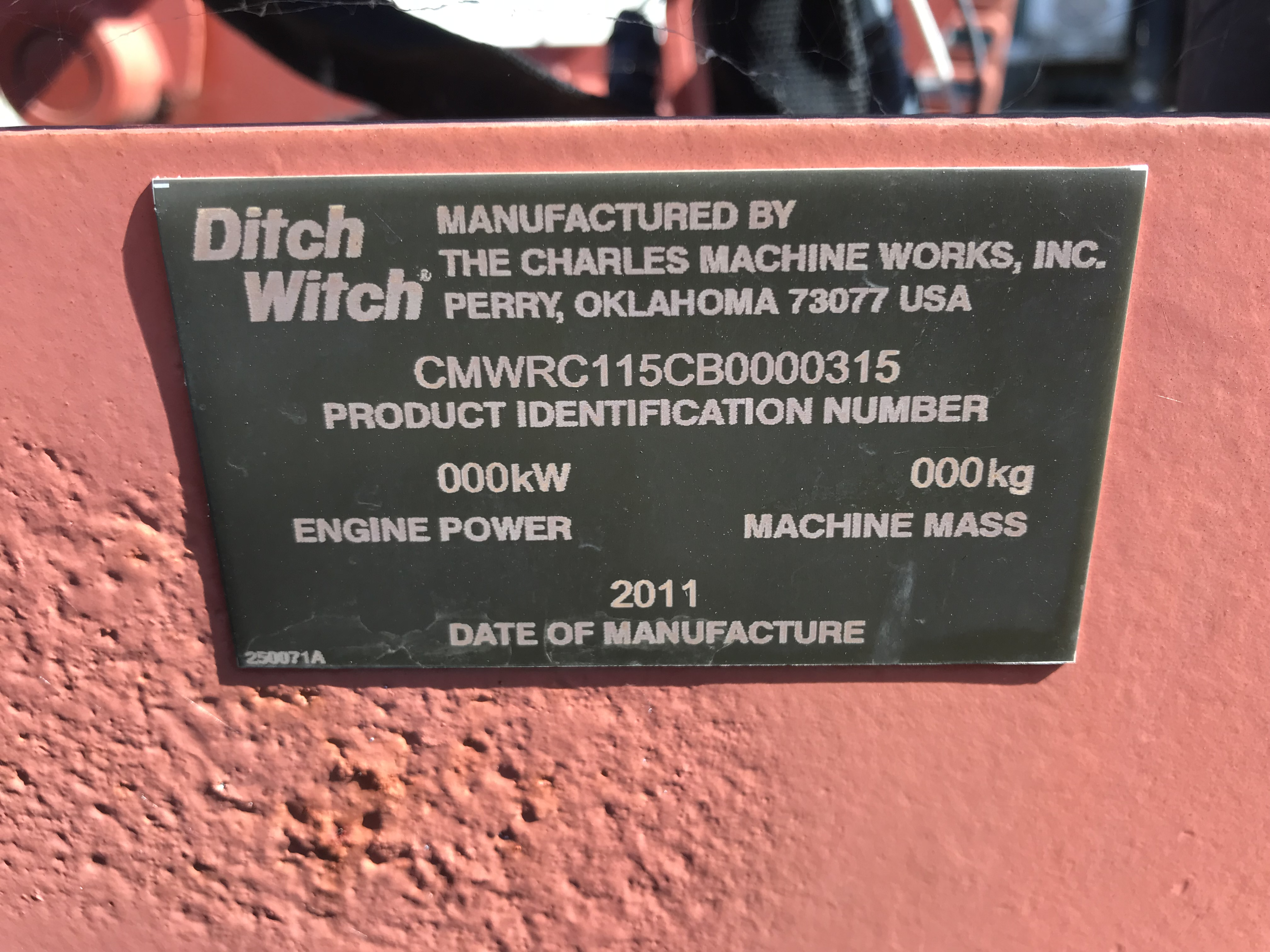 2011 Ditch Witch RC115