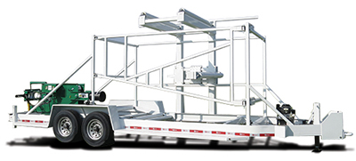 American Eagle IRV Vertical Coiled Pipe Trailer