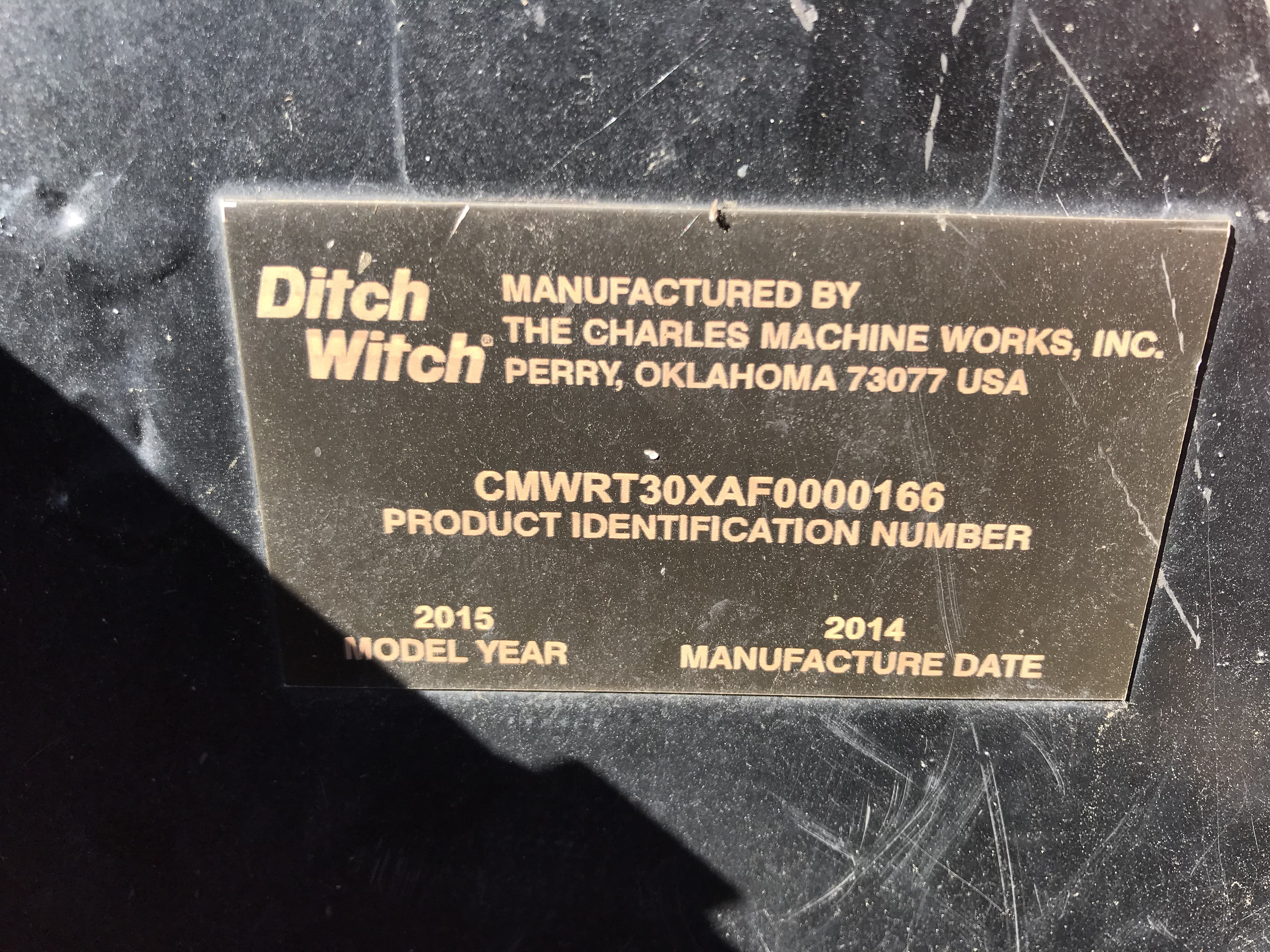 2015 Ditch Witch RT30