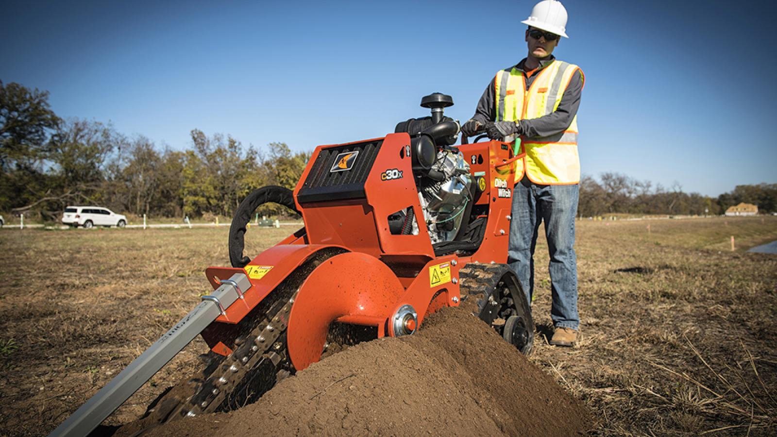Ditch Witch C30X Walk-Behind Trencher