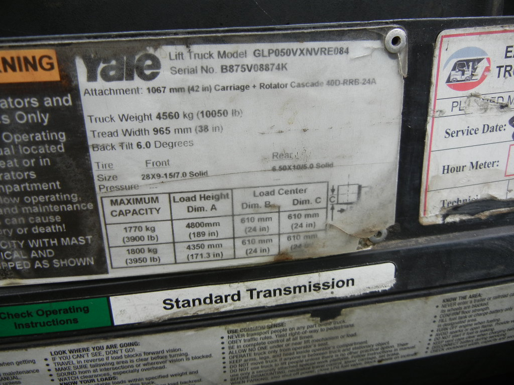 2012 Yale GLP050