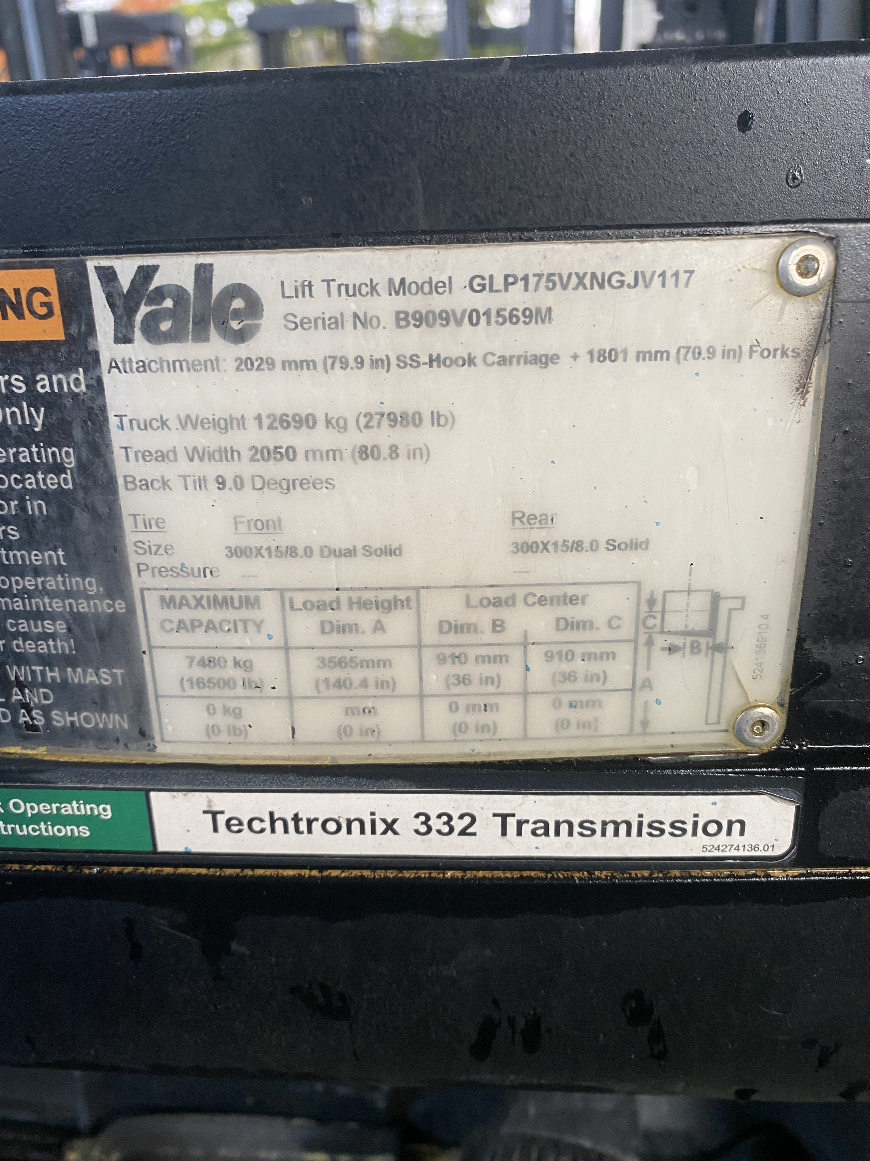 2014 Yale GLP175