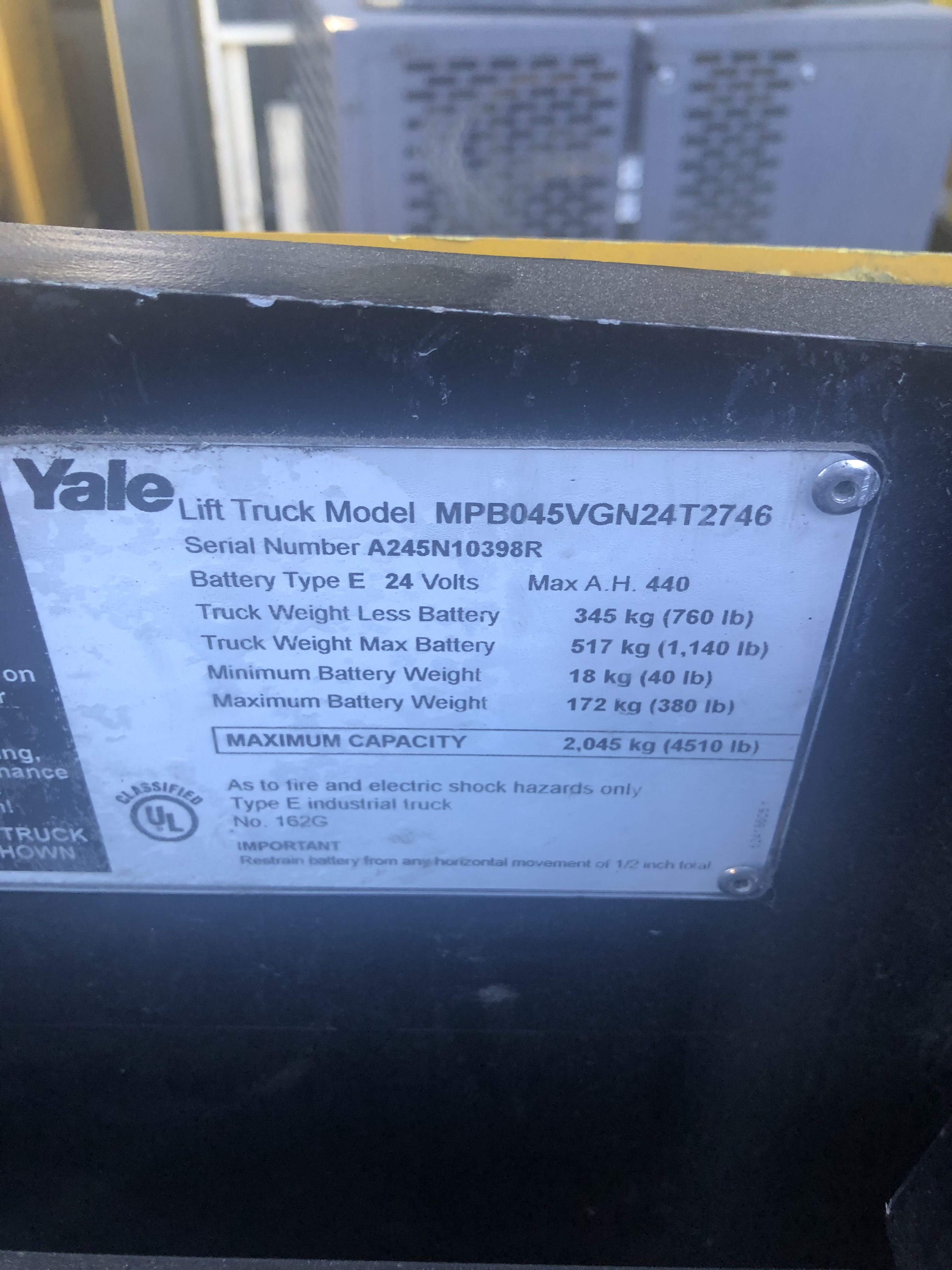 Yale MPB045