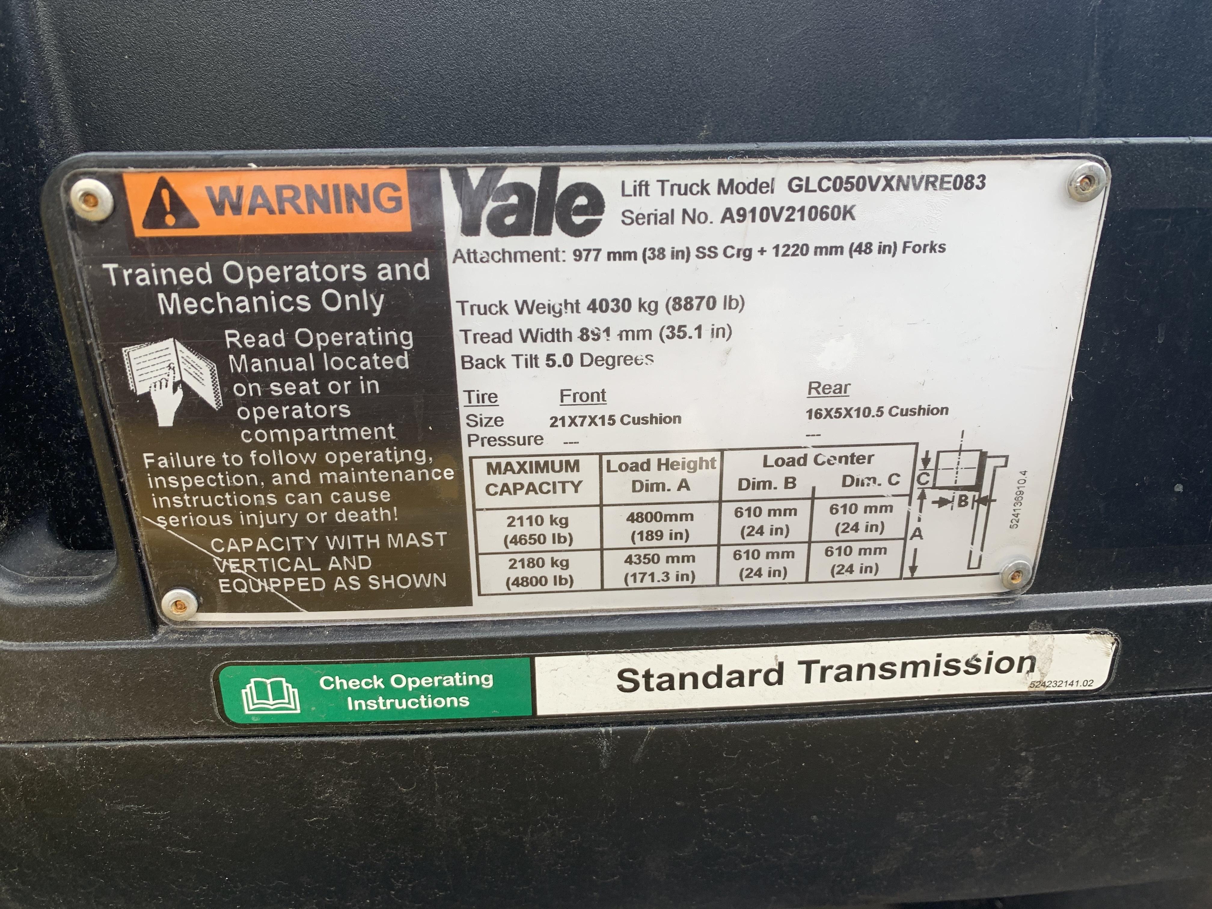 2012 Yale GLC050