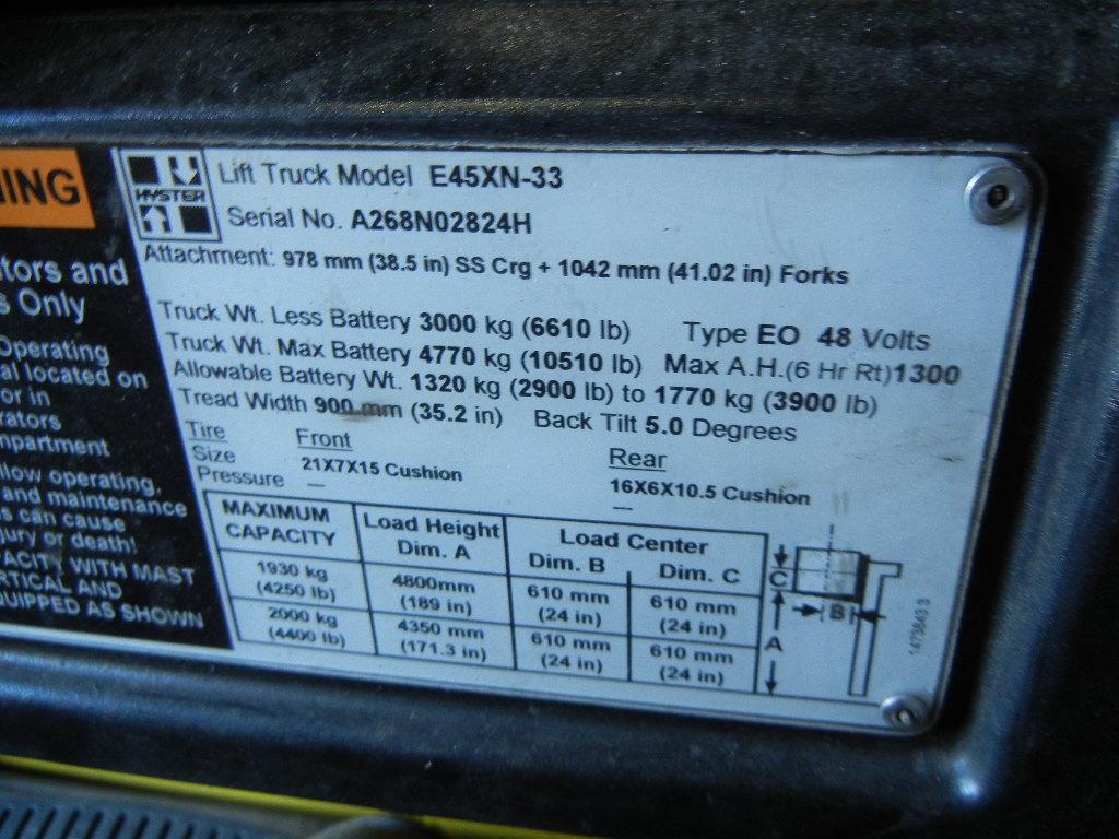 2010 Hyster E45XN