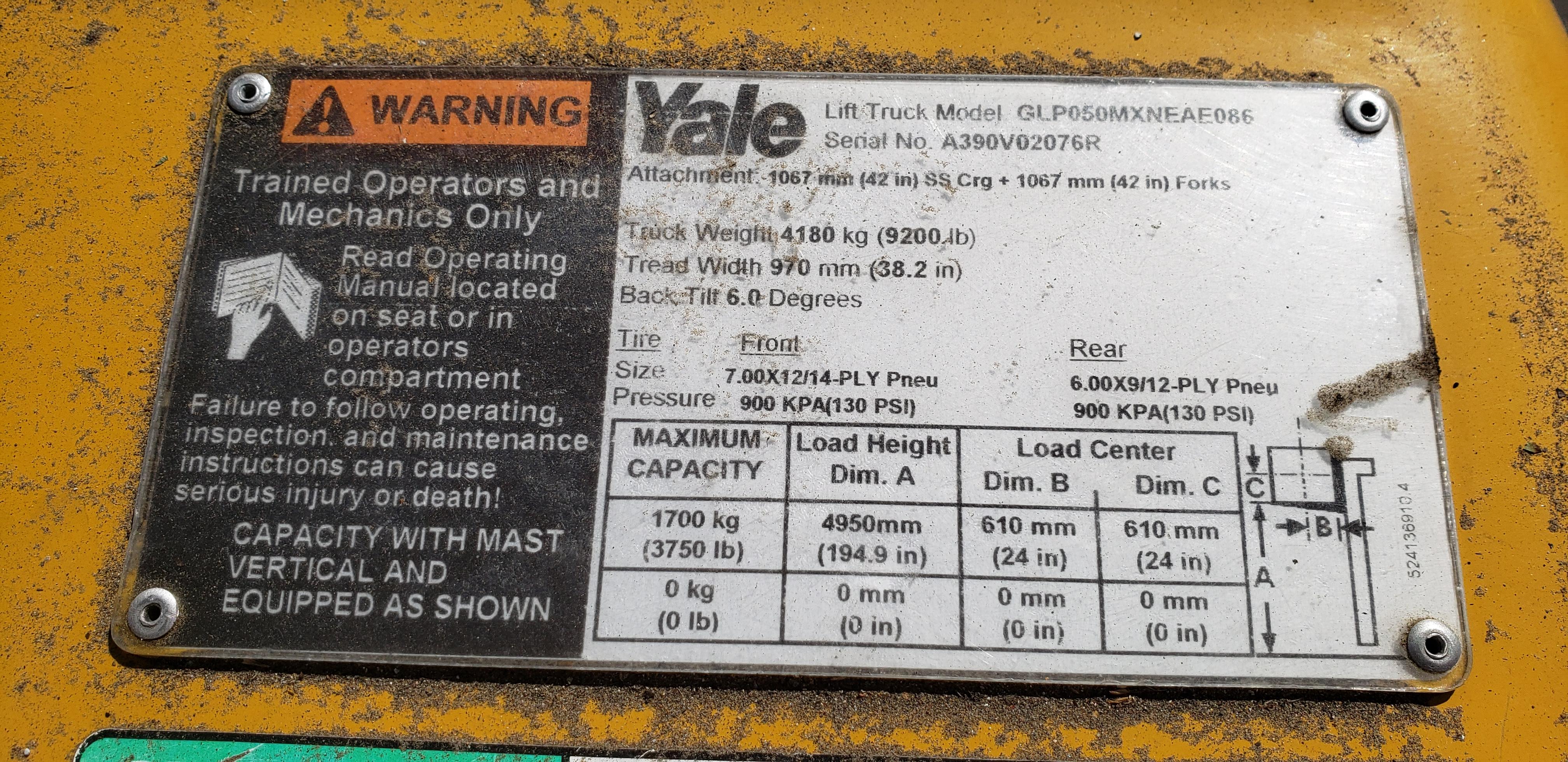 2017 Yale GP50MX