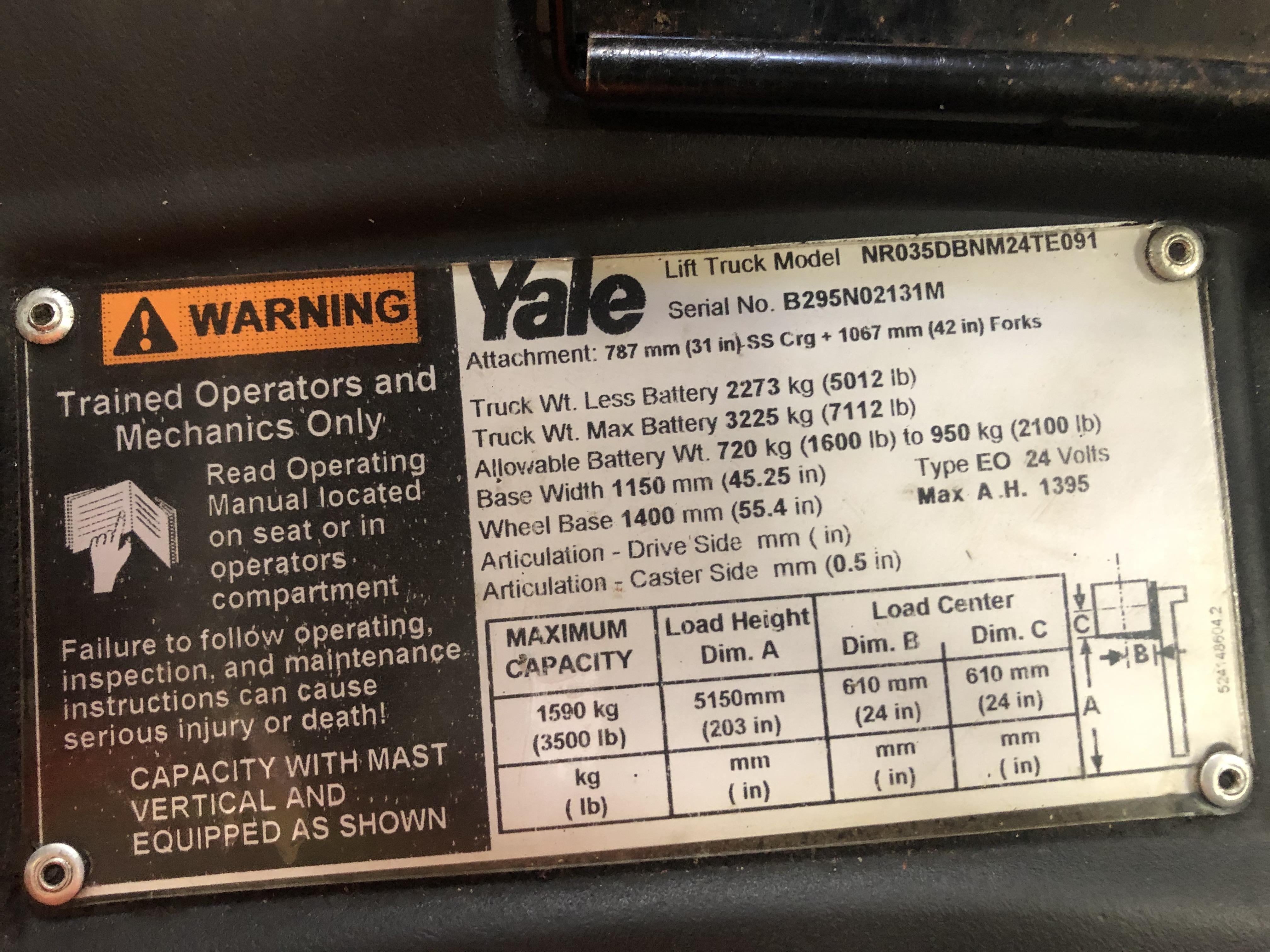 2014 Yale NR035