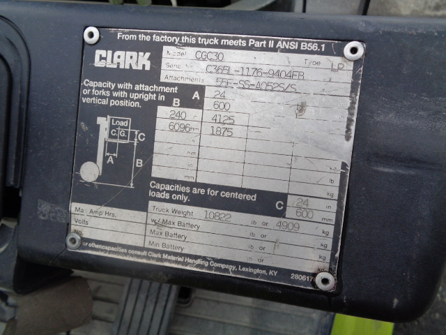 2001 Clark Equipment CGC30