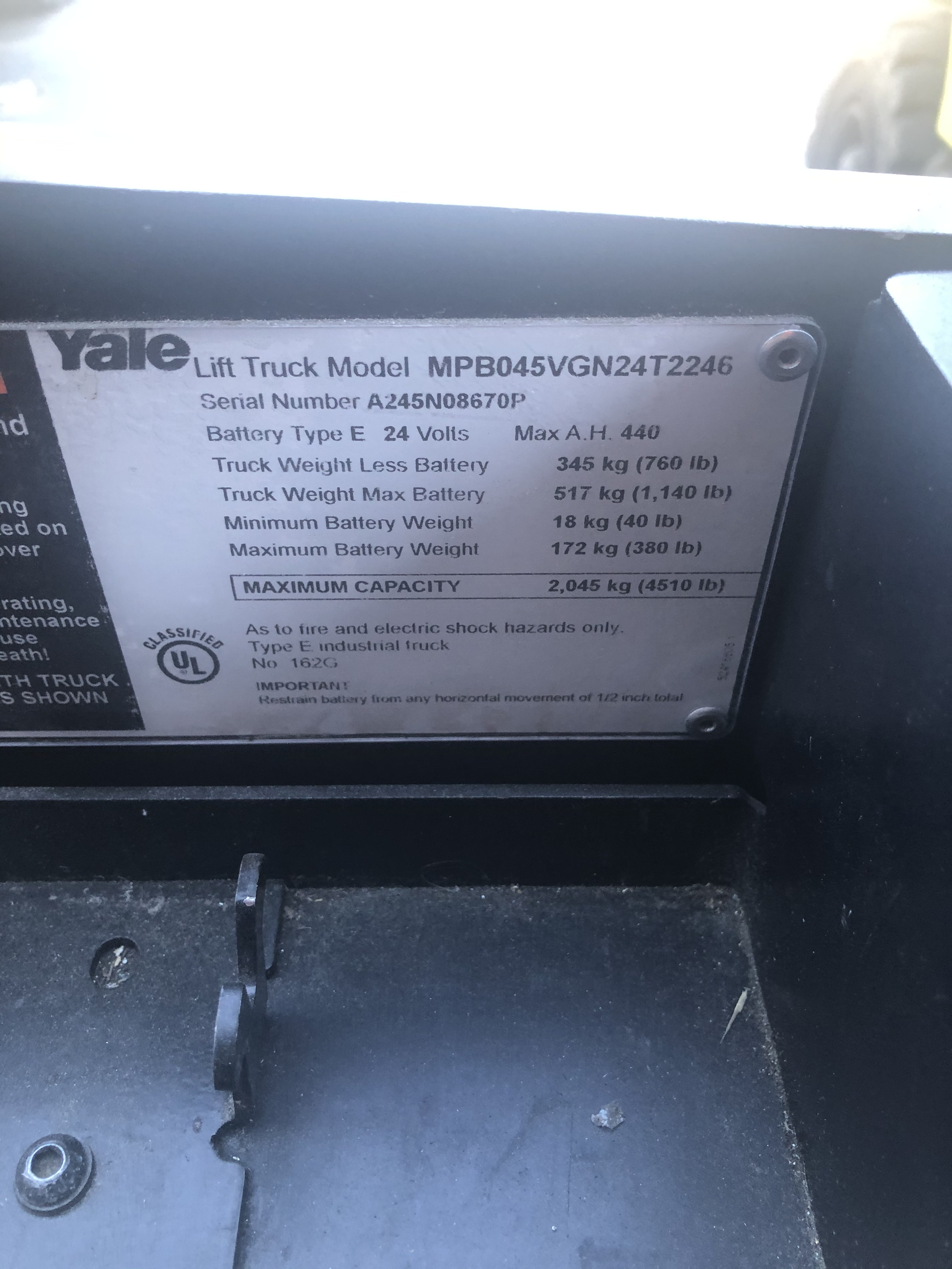 2016 Yale MPB045