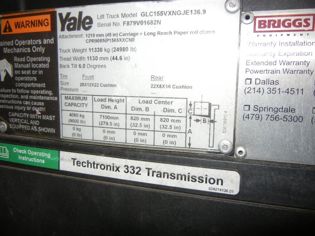 2015 Yale GC155V