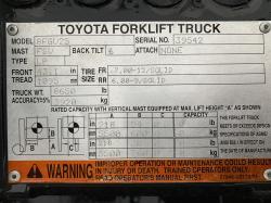 2012 Toyota 8FGU25