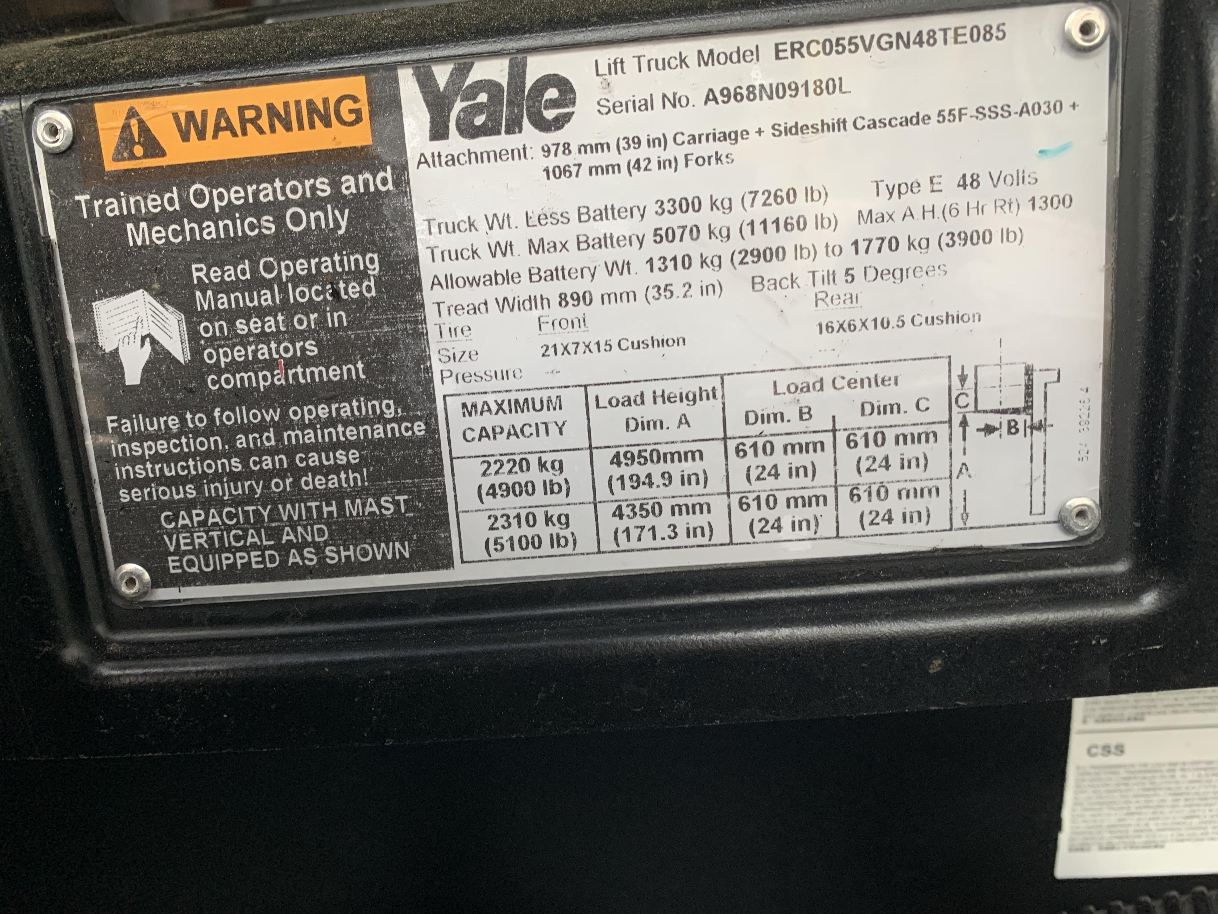 2013 Yale ERC055
