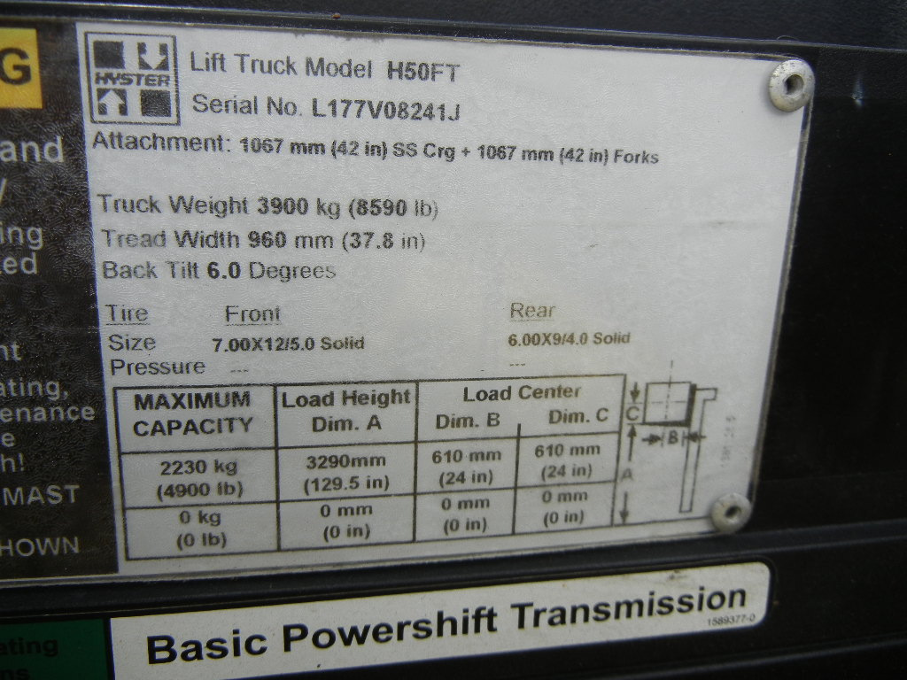 2011 Hyster H50FT