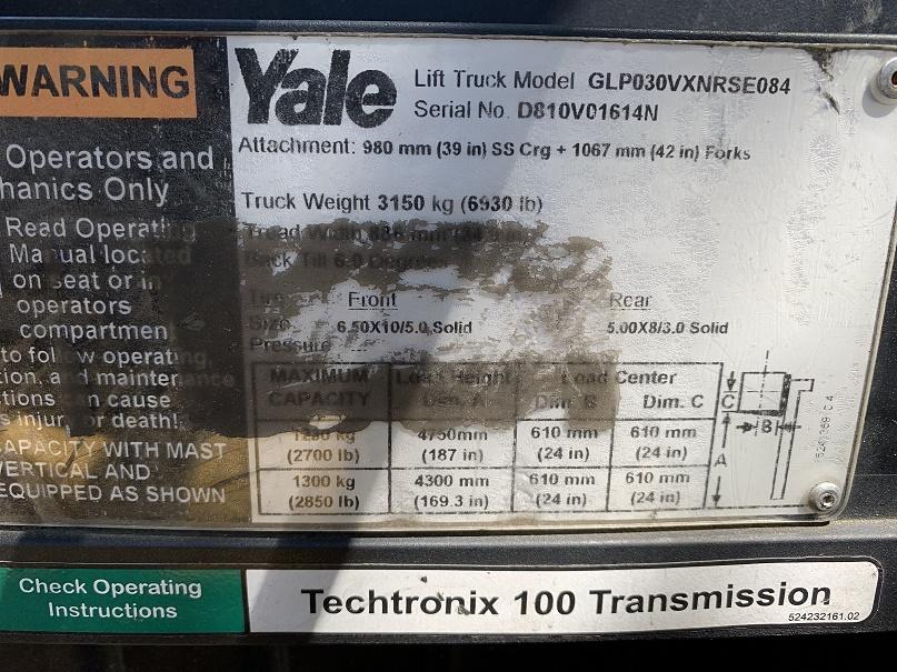 2015 Yale GLP030