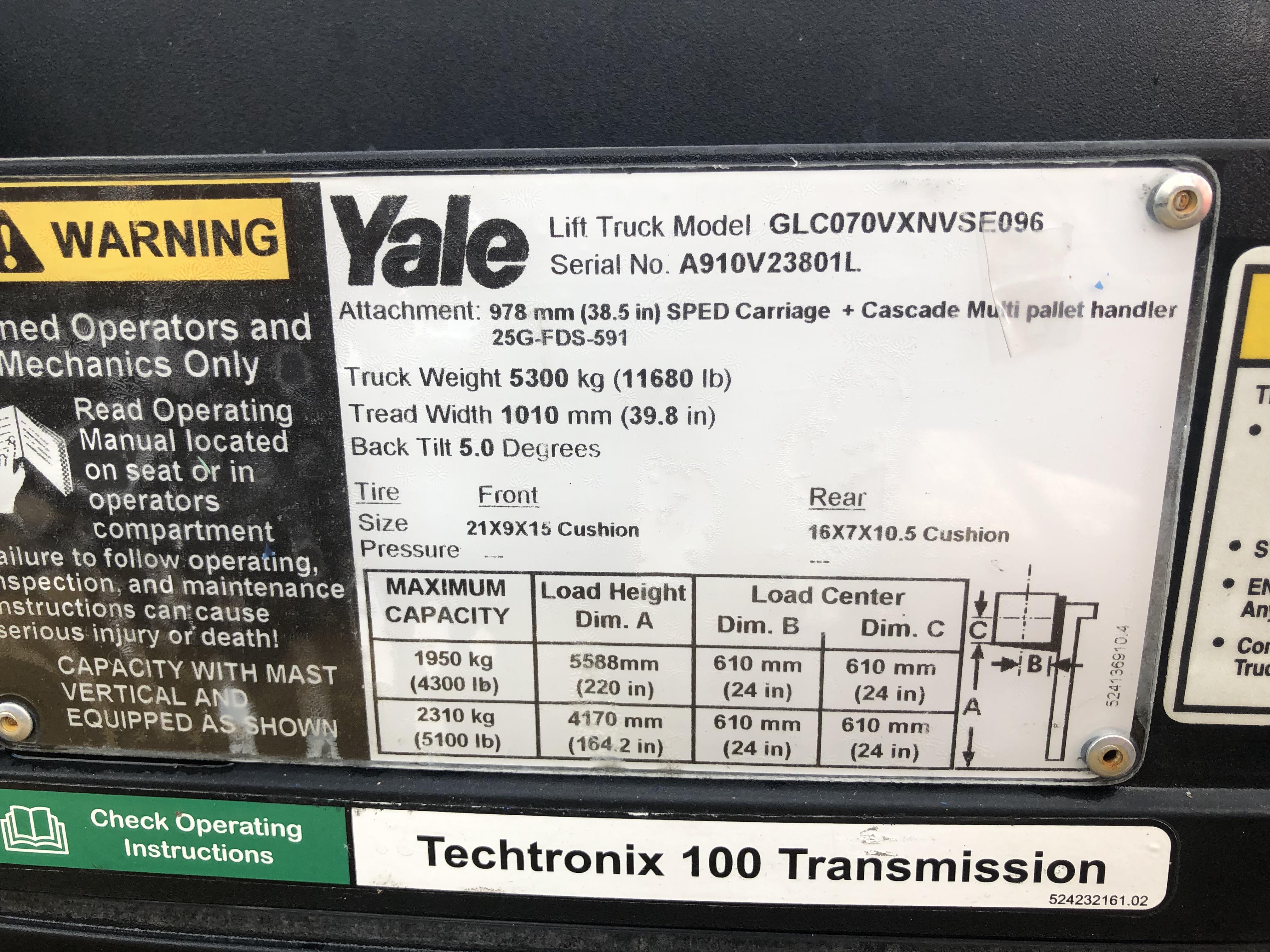 2013 Yale GLC070