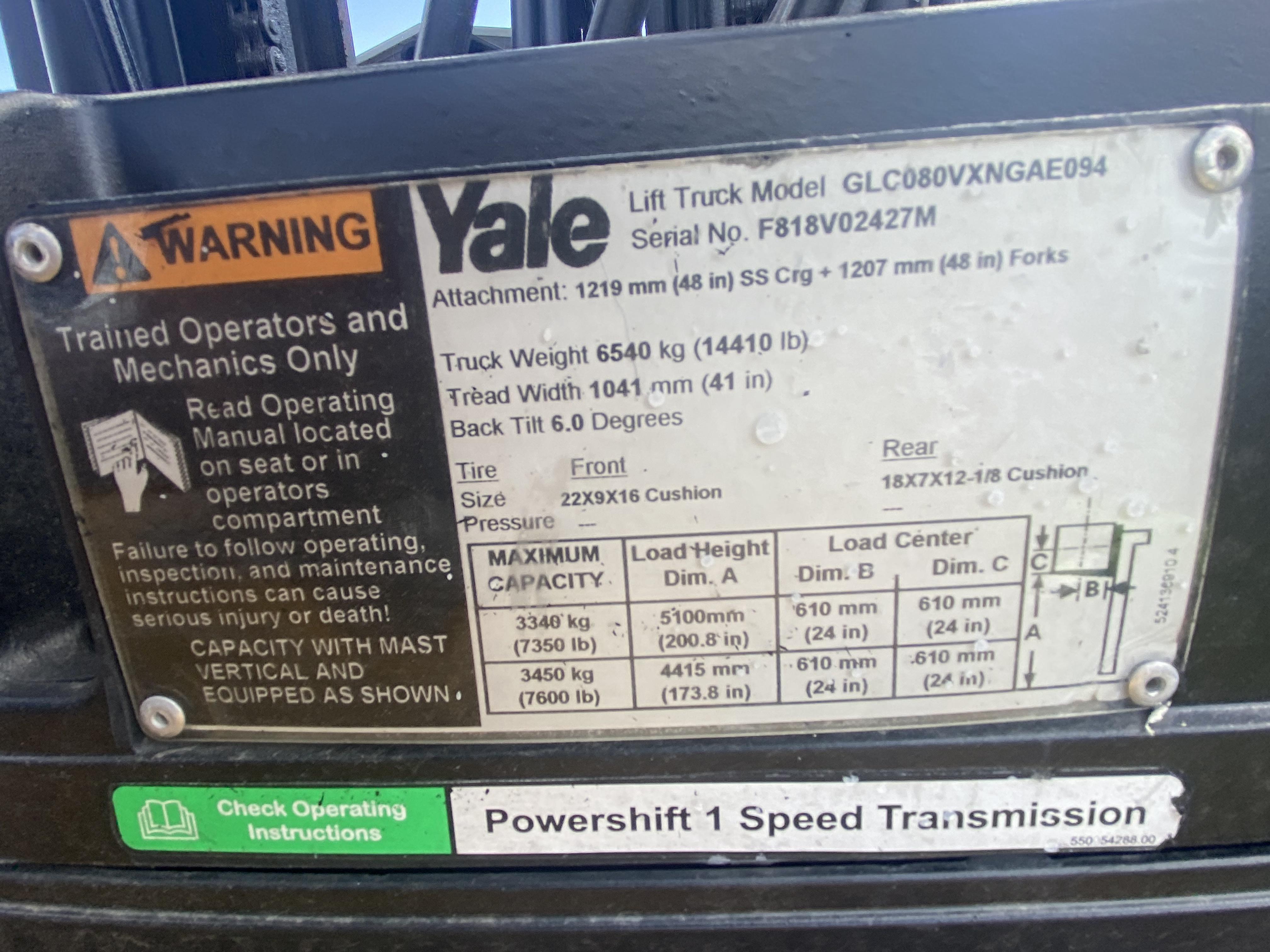 2014 Yale GC080