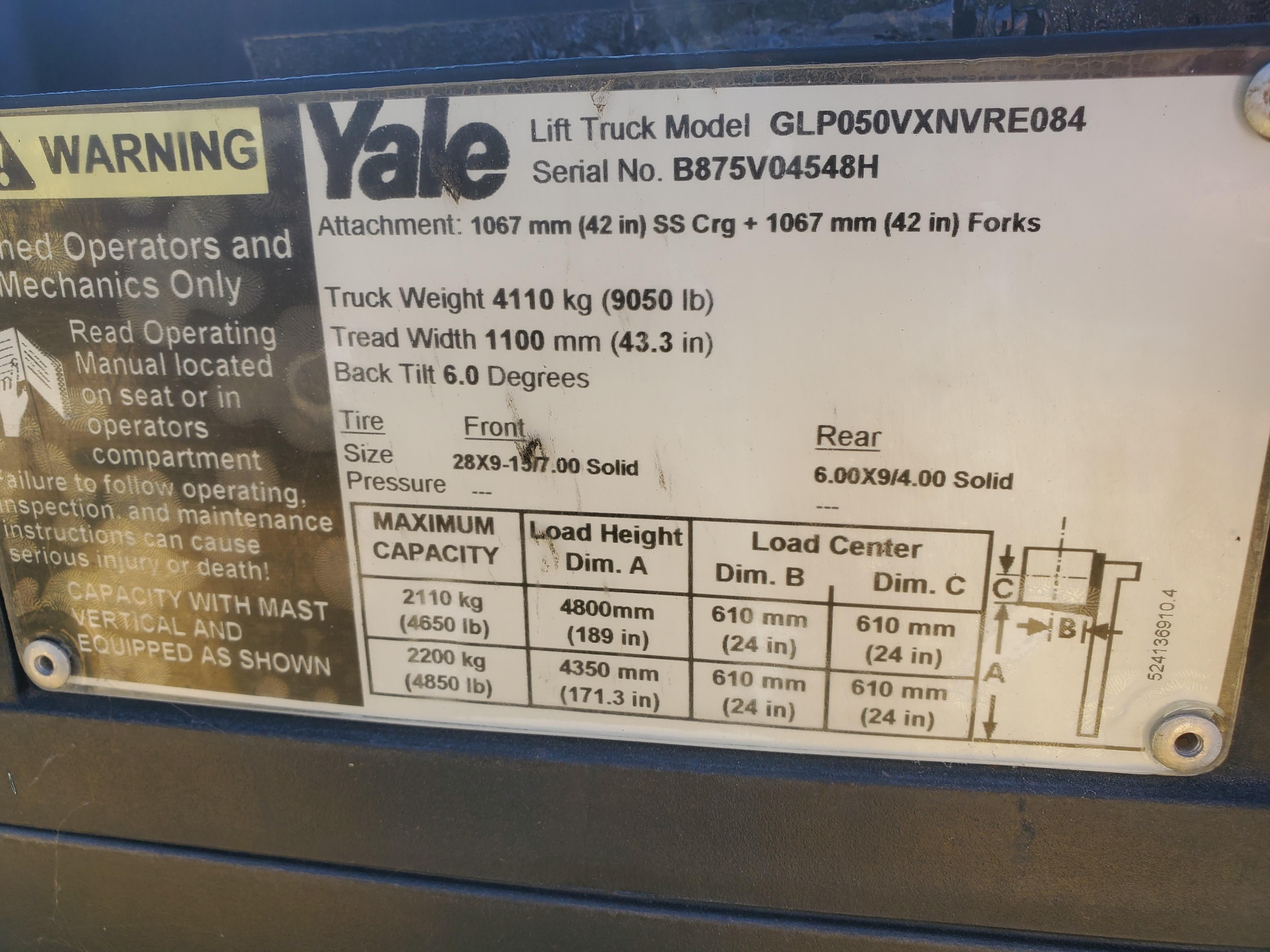 Yale GLP050