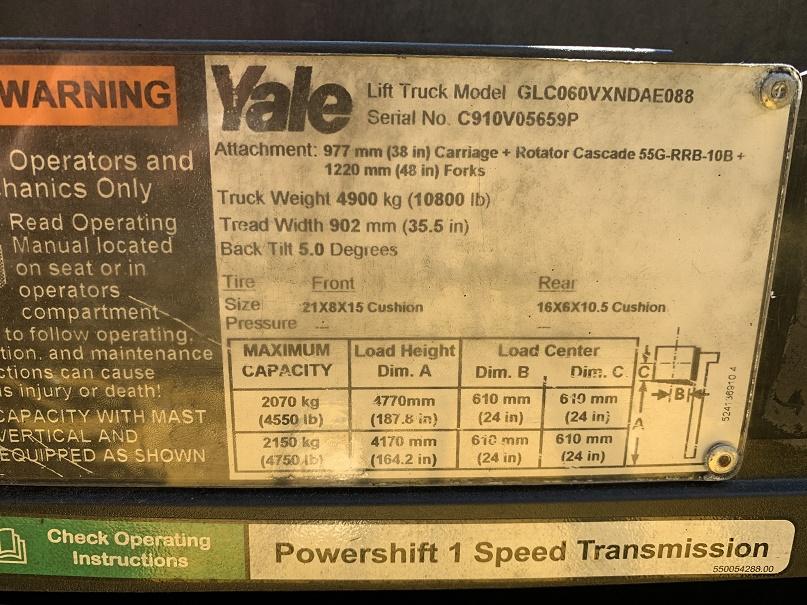 2016 Yale GLC060