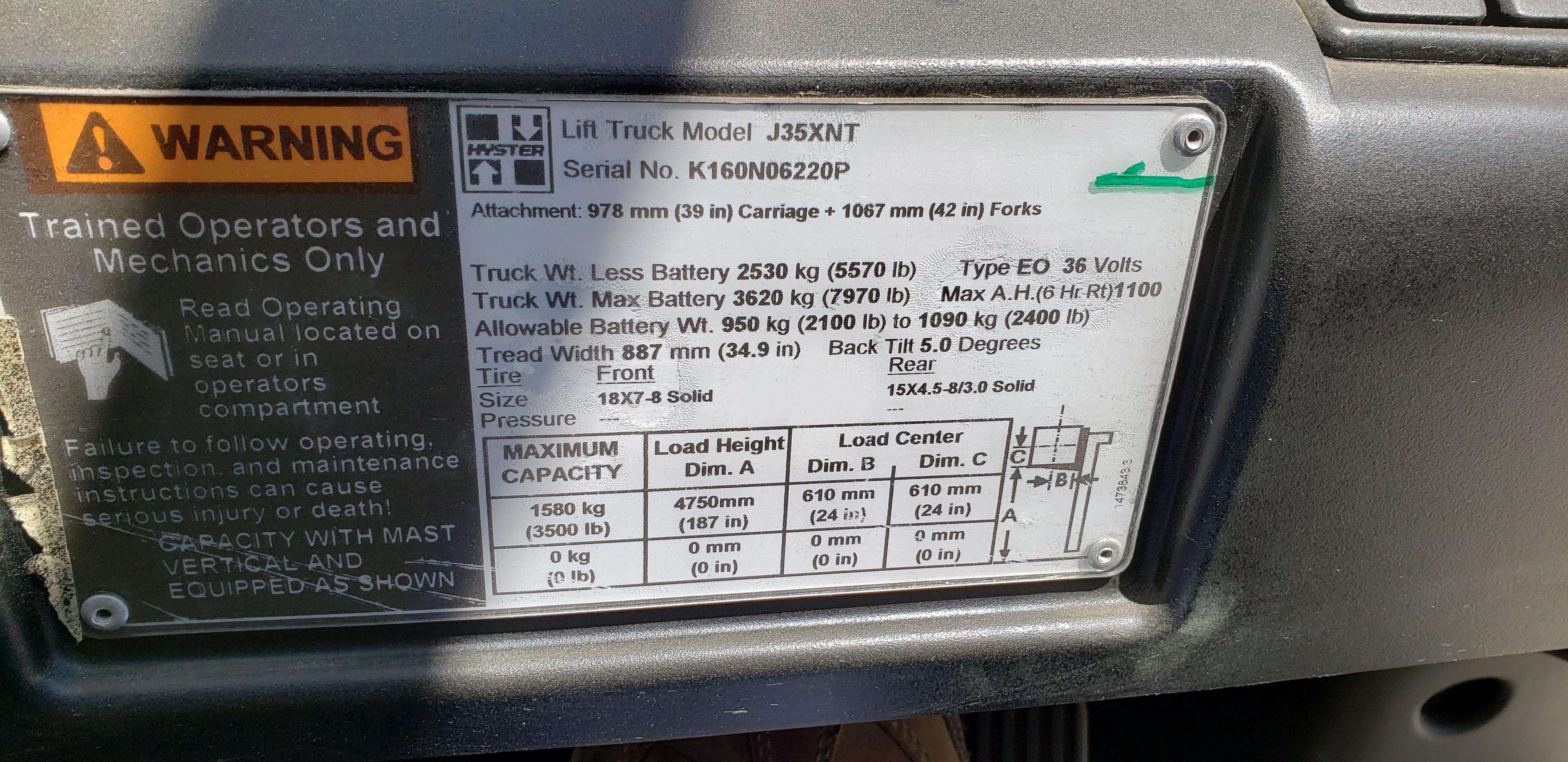 Hyster J35XNT
