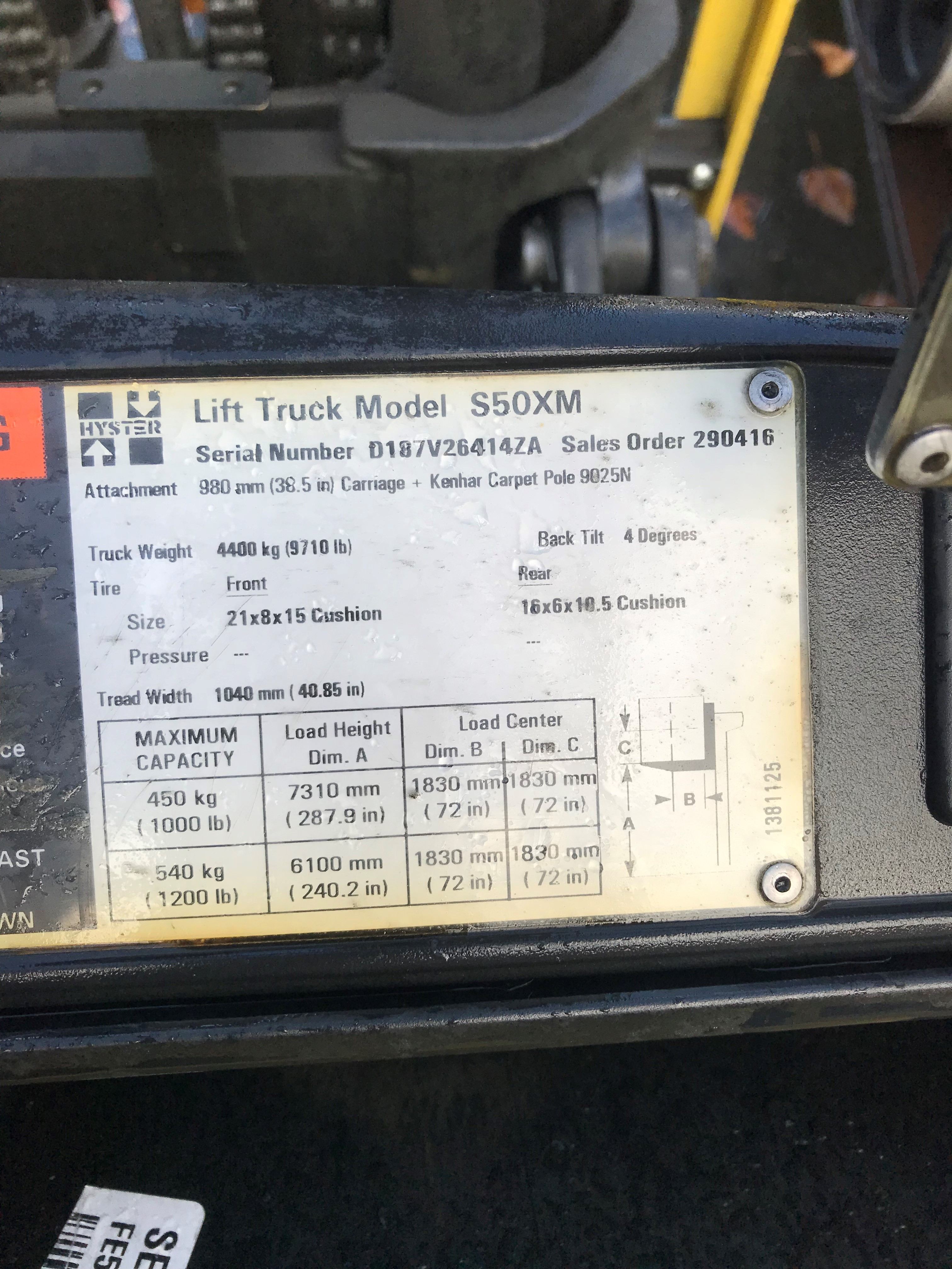 2002 Hyster S50XM