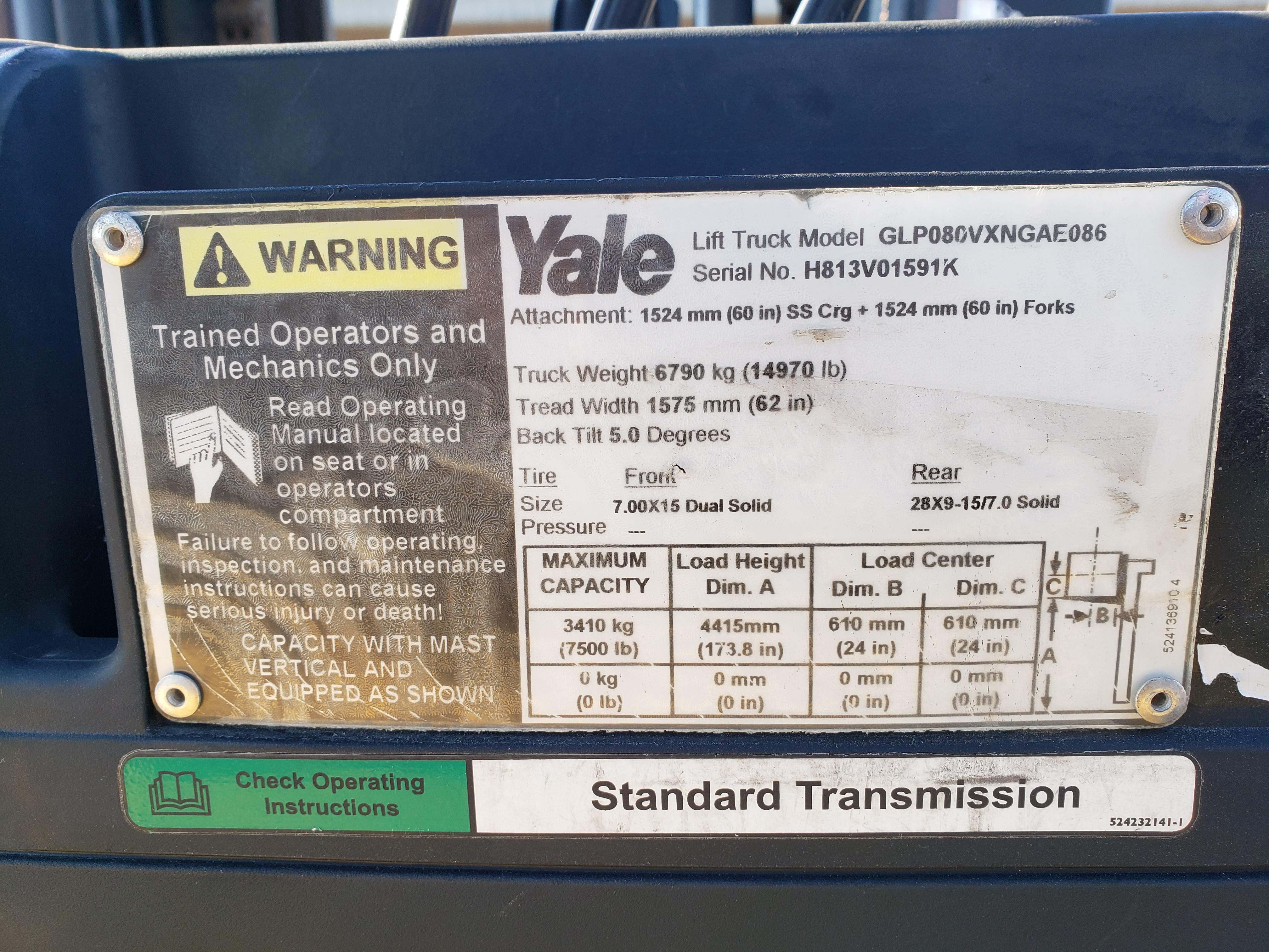 2012 Yale® GLP080