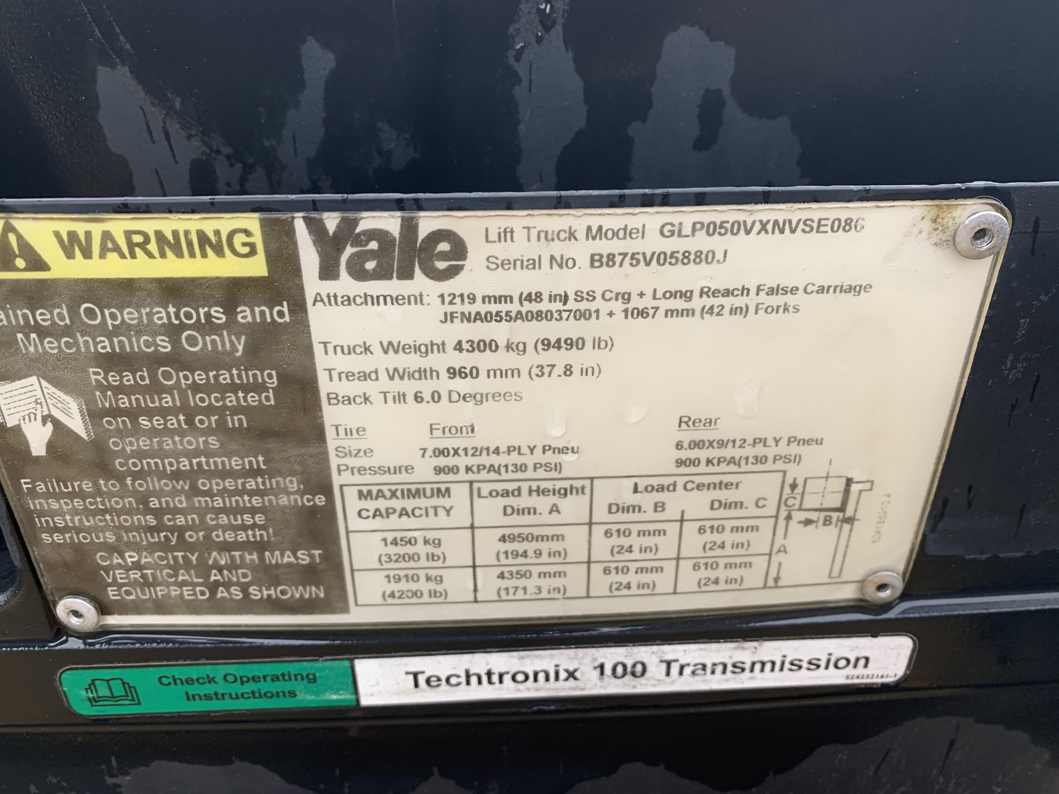 2012 Yale GLC070