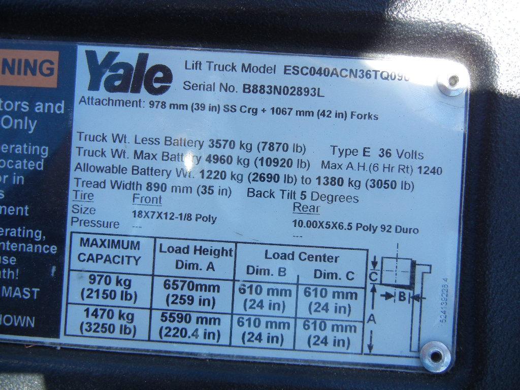 2013 Yale ESC040