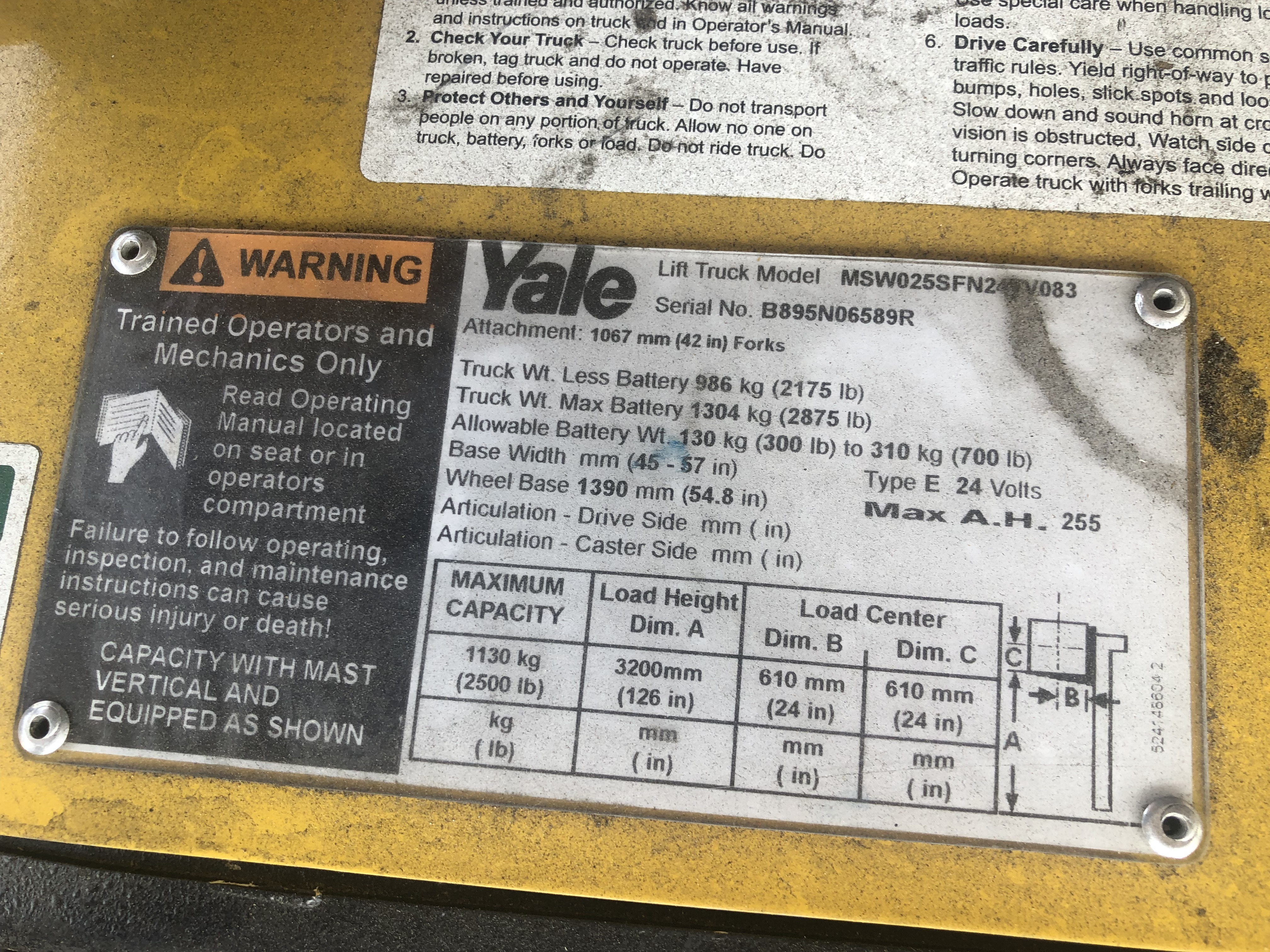 2017 Yale® MSW025