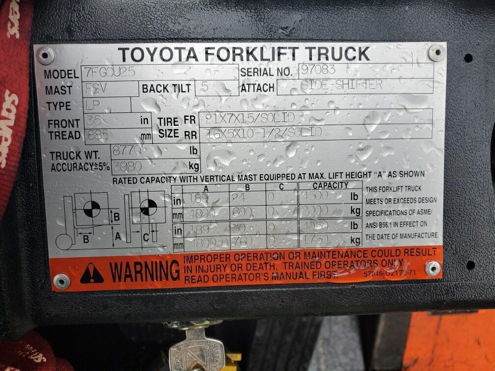 2005 Toyota 7FGCU2